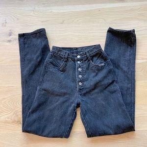 GENUINE 80's rockies black western high waist jean